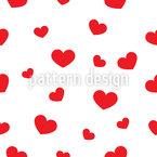 Grosse Und Kleine Herzen Muster Design