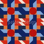 Retro Geometrie Musterdesign