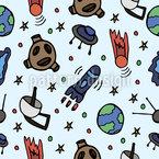 Weltraum Nahtloses Vektormuster