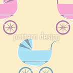 Baby Carriage Seamless Vector Pattern Design