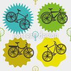Coole Bikes Vektor Ornament
