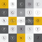 Letters In Diamond Shapes Seamless Vector Pattern Design