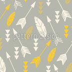 Flying Arrows Seamless Vector Pattern Design