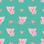 Cute Piglet Seamless Vector Pattern Design