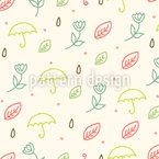 Frühlings Regen Nahtloses Vektormuster