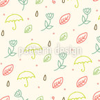 Spring Rain Repeat Pattern