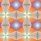 Sunburst Vintage Design de padrão vetorial sem costura