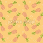 Beware Of The Pineapples Seamless Vector Pattern Design