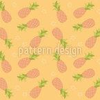 Gib Acht Auf Die Ananas Nahtloses Vektor Muster