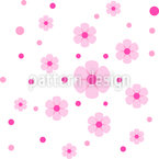 Dots Grow To Flowers Seamless Vector Pattern Design