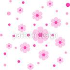 Punkte Wachsen Zu Blumen Nahtloses Vektormuster