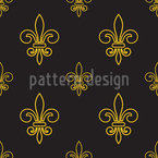 Golden Times Vector Pattern
