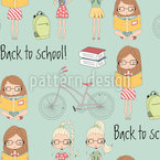 Back To School Seamless Vector Pattern Design
