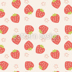 Strawberries Seamless Vector Pattern Design