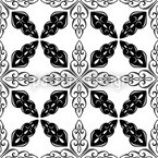 Moroccan BW Seamless Vector Pattern Design