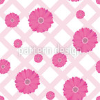 Gerbera On A Tablecloth Seamless Vector Pattern Design