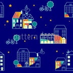 The Night Cat Repeating Pattern