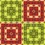 Декоративная плитка в квадрате Бесшовный дизайн векторных узоров