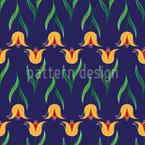 Grüssende Tulpen Nahtloses Vektormuster
