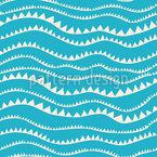 Hügel Wellen Rapportiertes Design