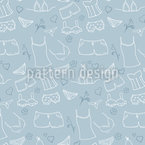 Laundry Cleaning Seamless Vector Pattern Design