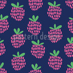 Raspberries Seamless Vector Pattern Design
