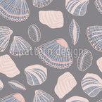Conchas E Areia Design de padrão vetorial sem costura