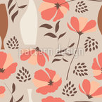 Mohnblumen für Vasen Nahtloses Vektormuster