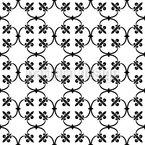 Forjamento Fleur-de-Lis Design de padrão vetorial sem costura