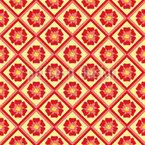 Telhas Florais Design de padrão vetorial sem costura