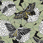 Butterflies And Hortensia Vector Design