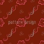 Schnörkel Blumenornamente Nahtloses Vektormuster