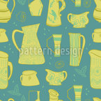 Retro Jugs Seamless Vector Pattern Design
