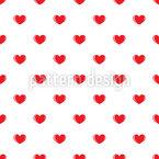 Kleine Herzen Nahtloses Muster
