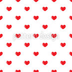 Small Hearts Seamless Vector Pattern Design