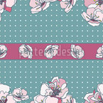 Obstblüten Bordüre Muster Design