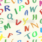 Alphabet Of Hand Drawn Letters Seamless Vector Pattern Design