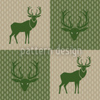 The Forest King Green Seamless Vector Pattern Design