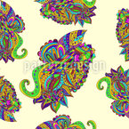 Zentangle Paisley Estampado Vectorial Sin Costura