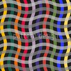 Großes Wellengitter Vektor Muster