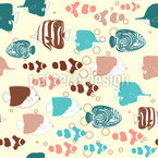 Tropische Fische Versammlung Nahtloses Vektormuster