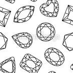 Diamanten Sind Freunde Nahtloses Vektormuster