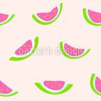 Watermelon Seamless Vector Pattern Design