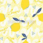 Wenn Das Leben Dir Zitronen Gibt Nahtloses Vektormuster