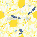 When Life Gives You Lemons Seamless Vector Pattern Design