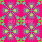 Talavera Peacock Seamless Vector Pattern Design