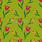 Tulip bed Vector Ornament