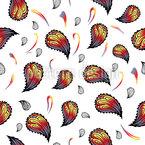 Paisley swirl Seamless Vector Pattern Design