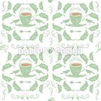 Tee Für Zwei Nahtloses Vektor Muster