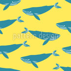 Blauwale Nahtloses Vektormuster
